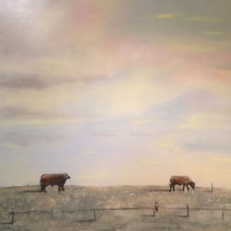 'Texas Country'  48 X 48  oil